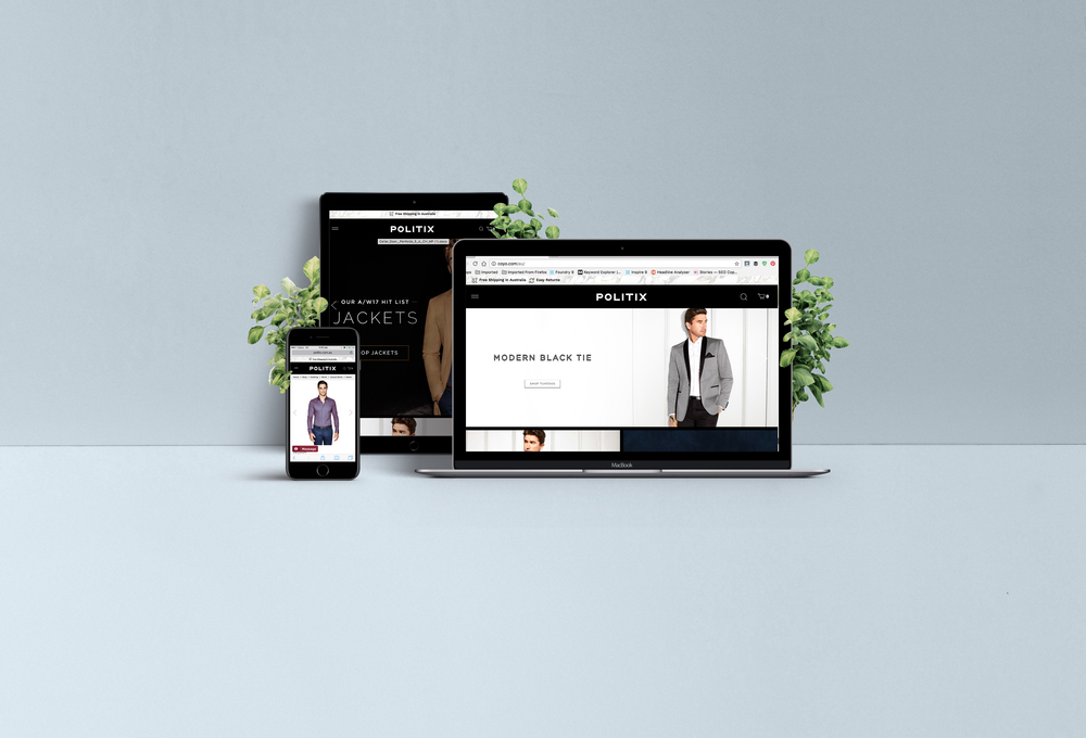 menswear copywriting case study  for ecommerce website