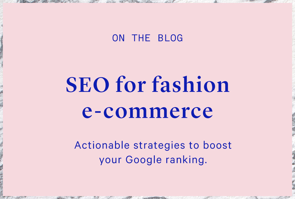 ecommerce seo tips for fashion businesses