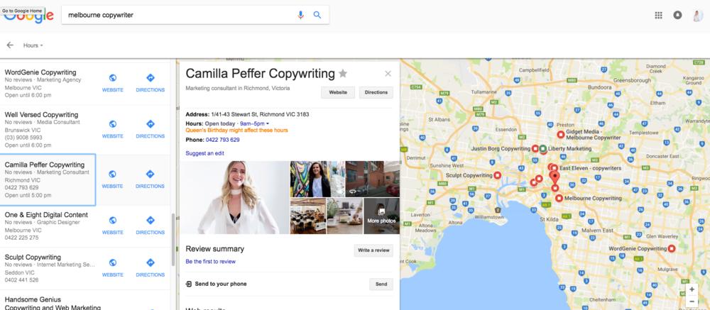 ecommerce seo google my business listing