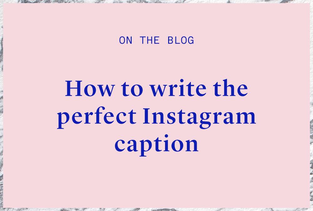 instagram copywriting