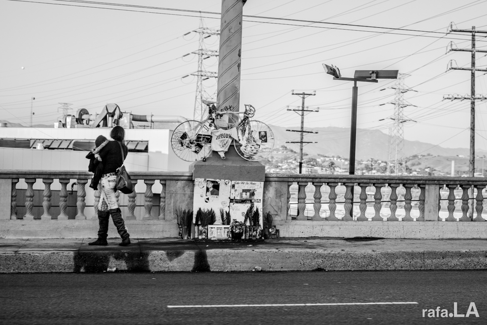 Ride In Peace.  October 31, 2013 - Cesar Chavez Bridge, Downtown to Boyle Heights