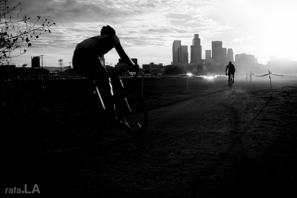 Cyclo Cross   Sunset  November 30, 2013 - Los Angeles State Historic Park
