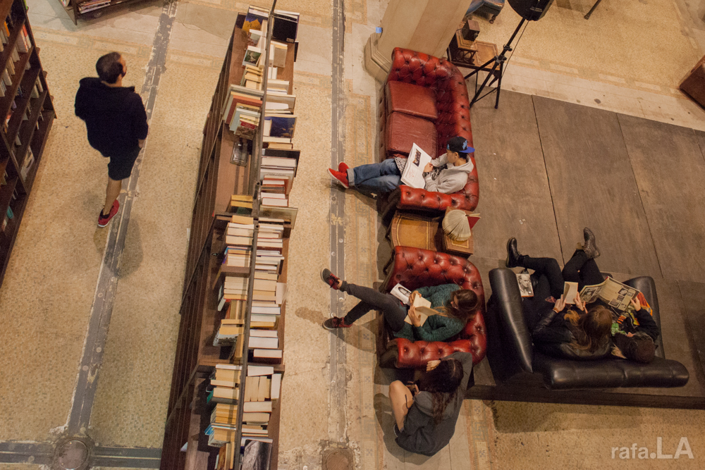 Birdseye View.  December 28, 2013 - The Last Bookstore, Downtown LA
