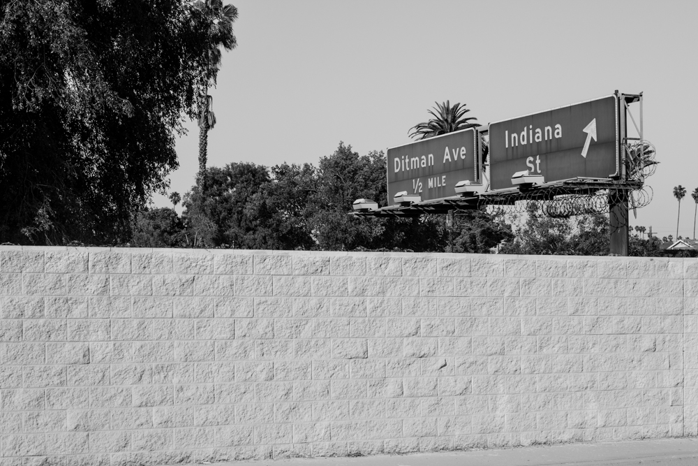 Off the exit.  April 14, 2014 - Boyle Heights