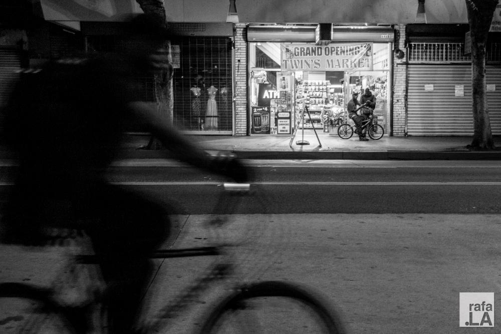 Bike Shadow  August 20, 2014 - Downtown LA