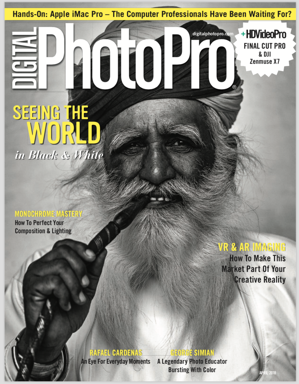 Featured profile in Digital Photo Pro MagazineApril 2018 Issue  -