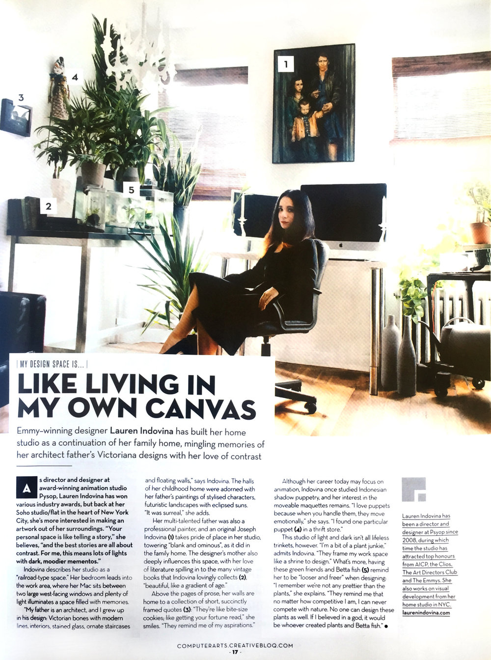 COMPUTER ARTS MAGAZINE /  LIKE LIVING IN MY OWN CANVAS