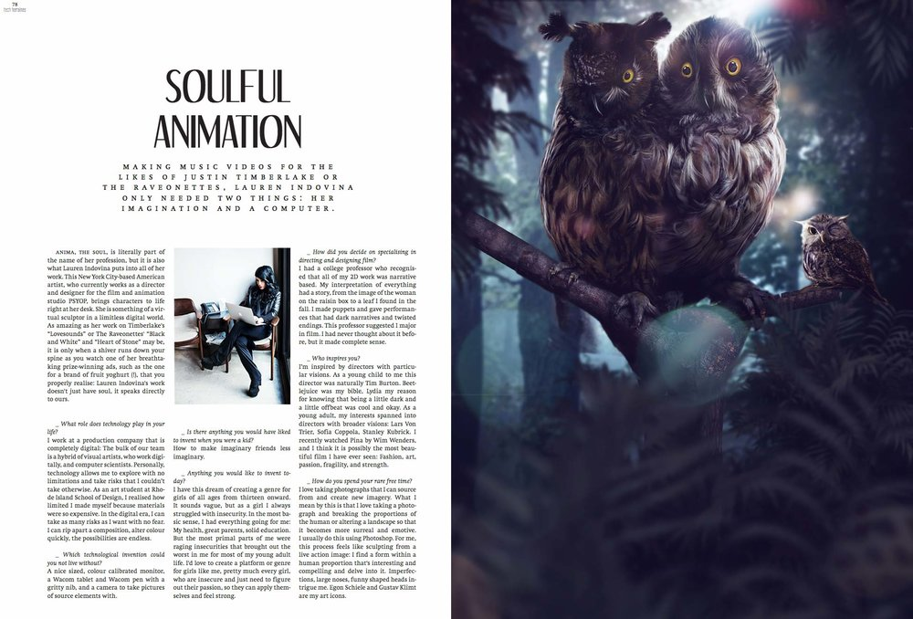 MONKI FASHION MAGAZINE /  SOULFUL ANIMATION