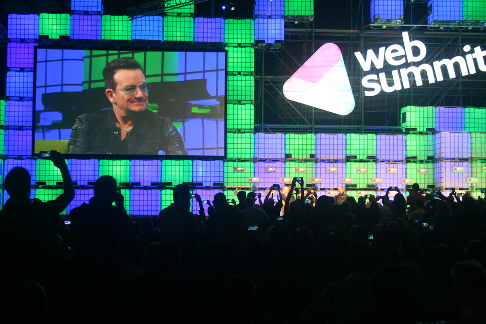 Bono speaks at the 2014 conference