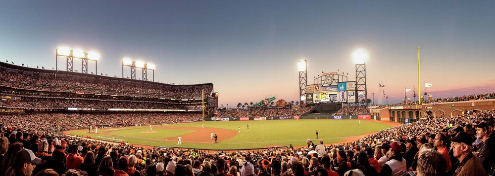 iPhone picture taken in pano mode at AT&T park.