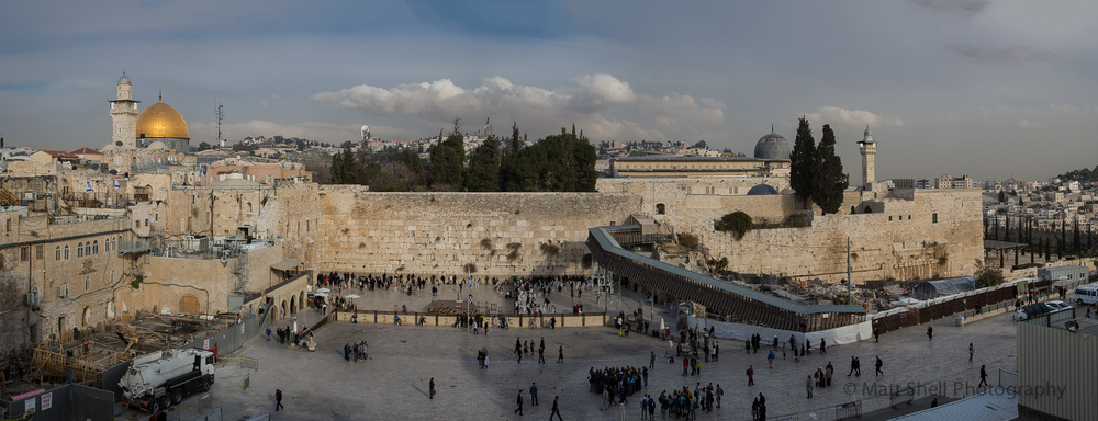 The Western Wall.  Jerusalem.