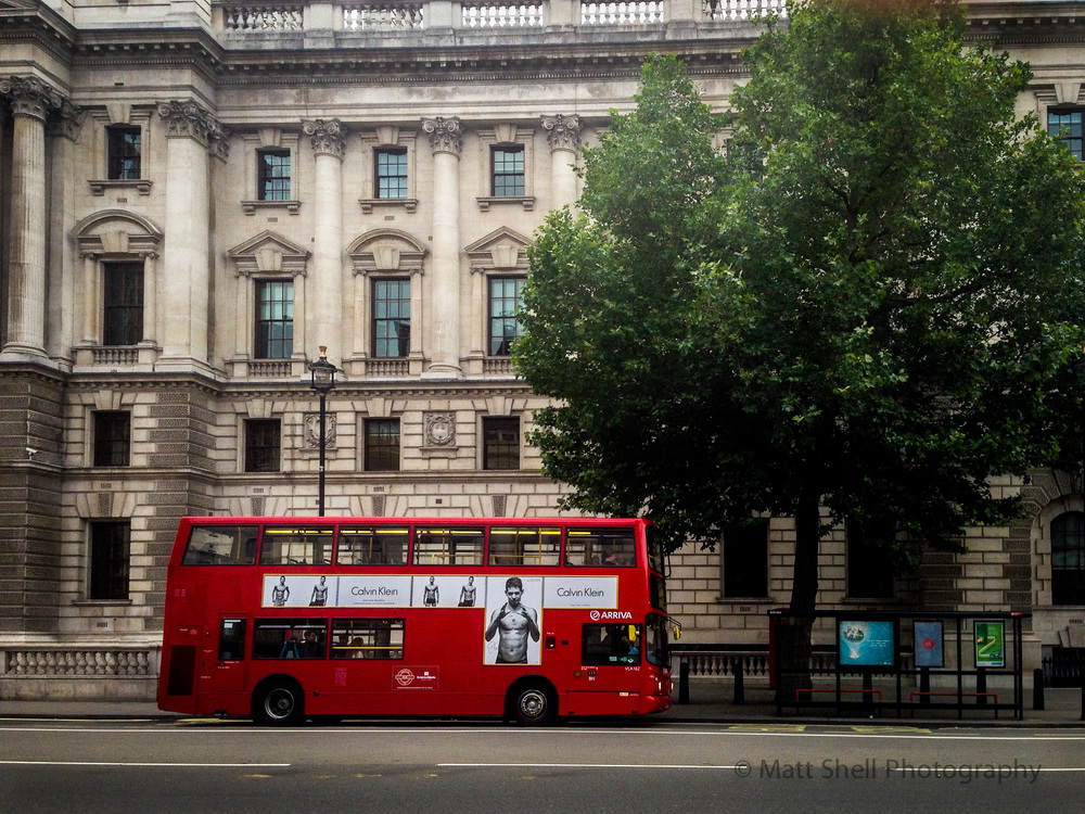 If you don't have a red phone box to shoot... shoot the red double decker bus!
