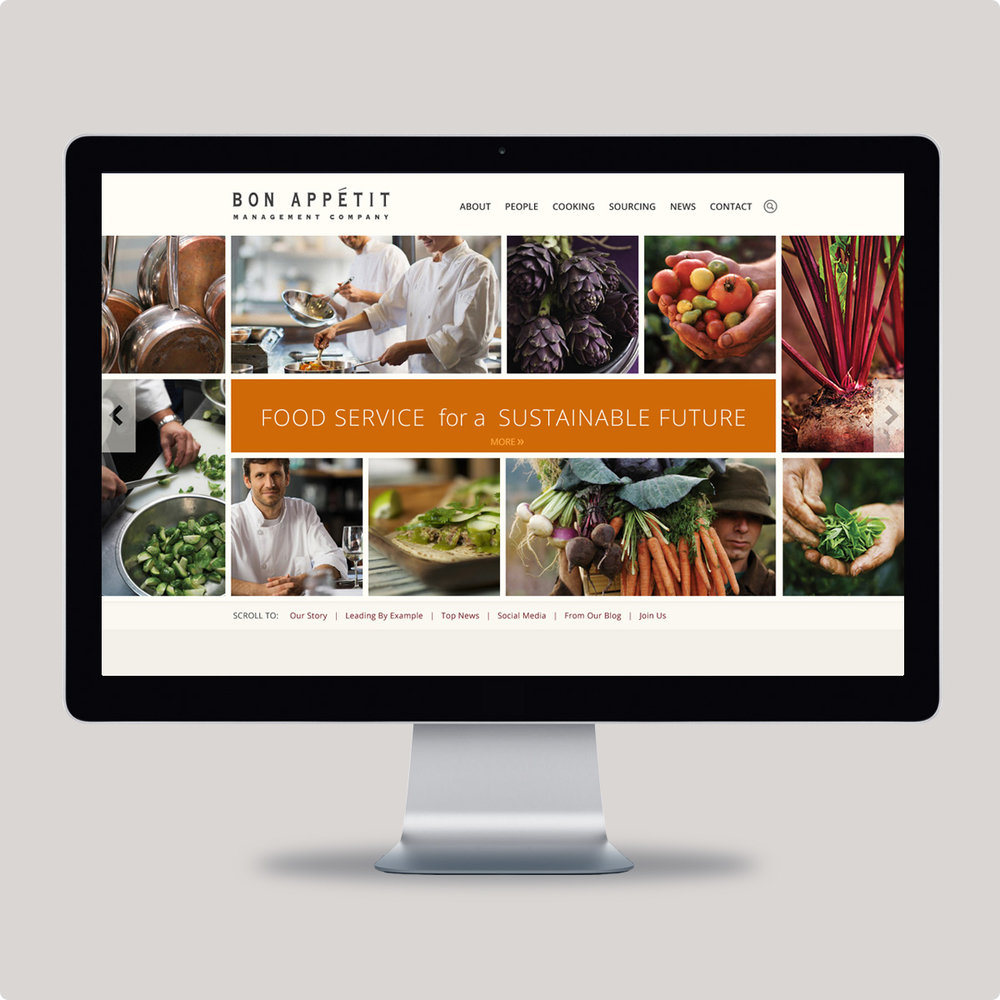 Bon Appétit Management Company Website - Click to see more from this project.