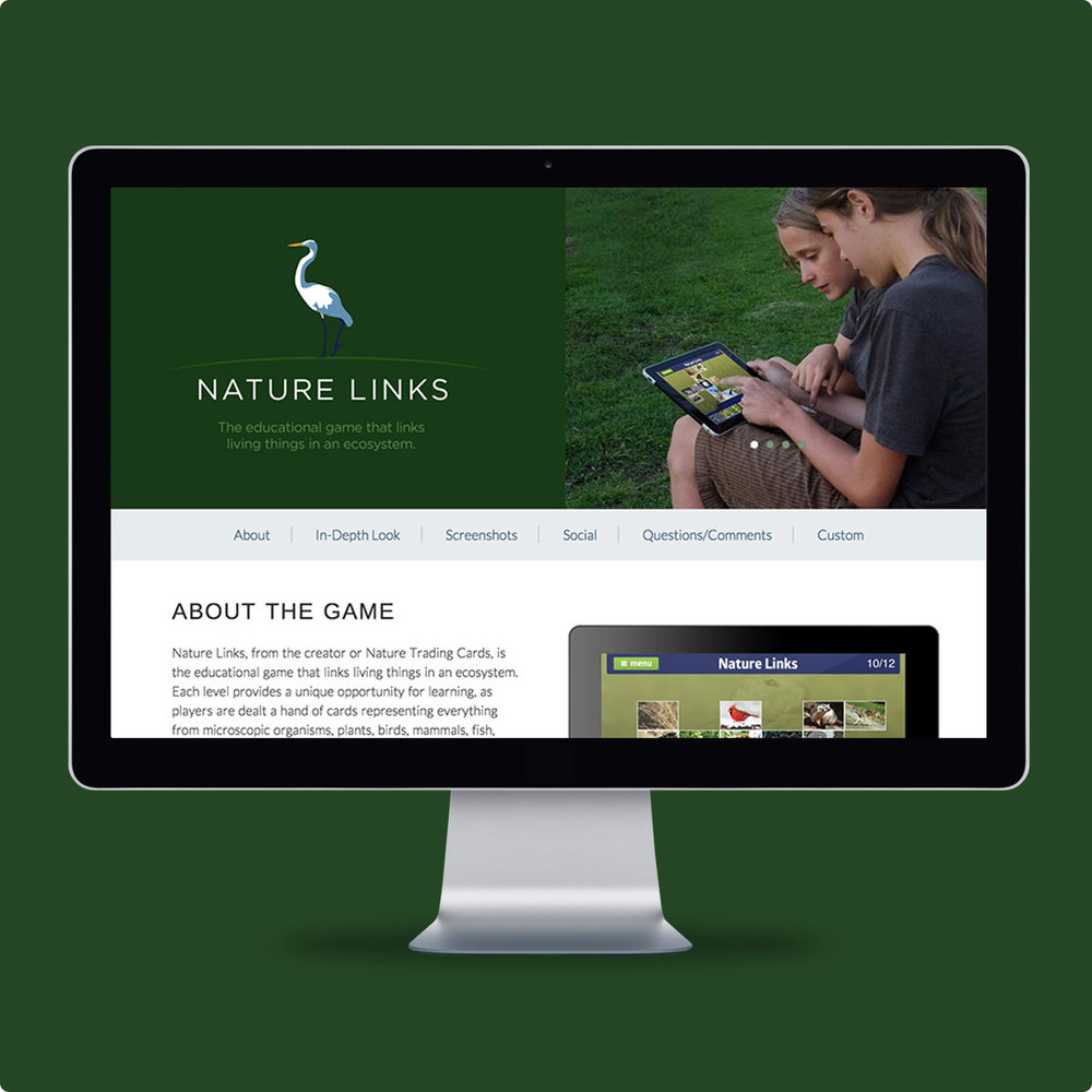 Nature Links Website and Tablet-based Game