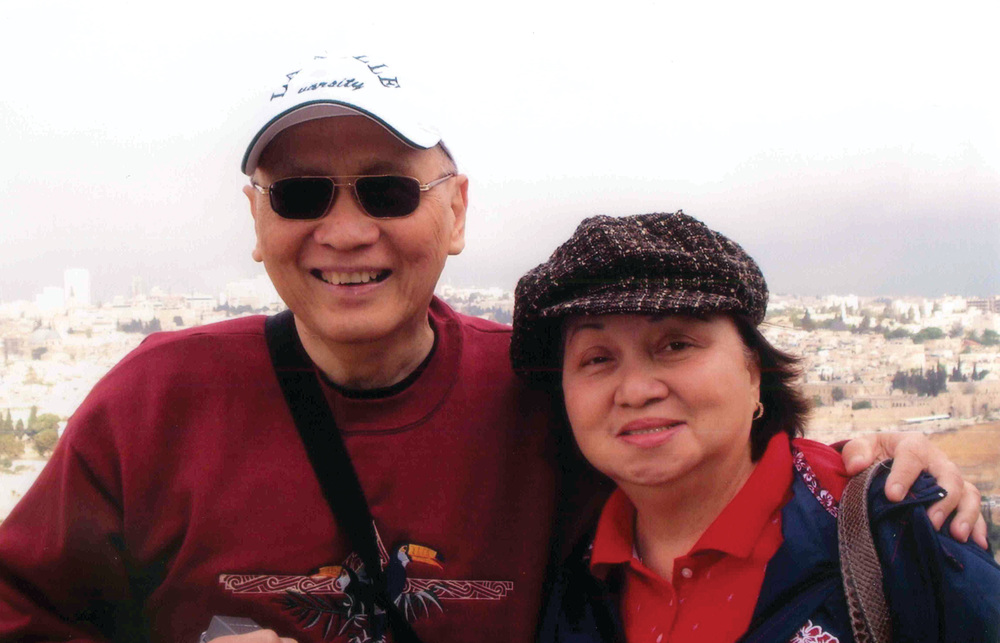 "Br. Roly with his sister, Josefa ""Patching""  Puentevella, in Bethlehem,"