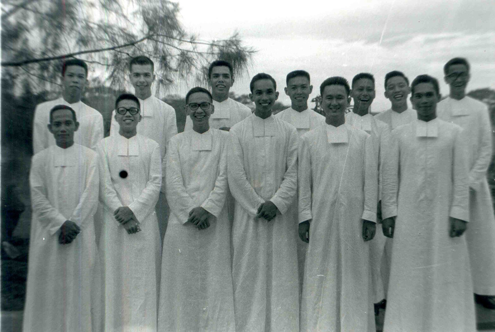 A very young Br. Roly (front row, third from left) poses with his fellow Brothers in an undated photo.