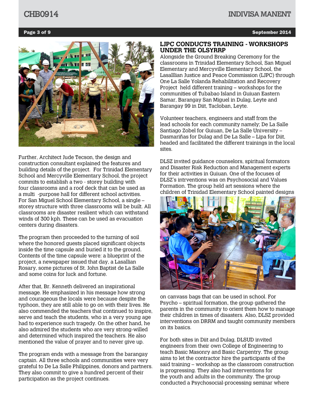 Central house bulletin september 2014 de la salle philippines chb09143g malvernweather