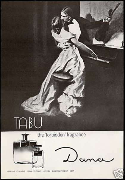 And one of the original Tabu ads not featuring cats.