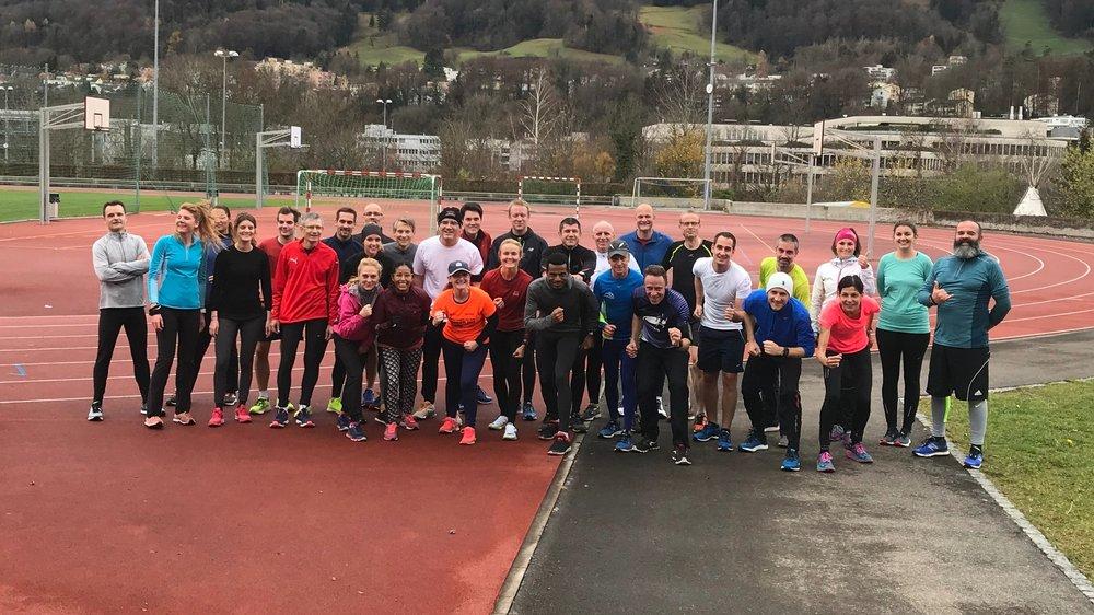 Bild :  Der erste Laufworkshop gemeinsam mit Generali Mitarbeitenden, Dez 2018.