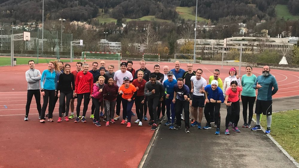 Picture: The first running workshop together with Generali employees, Dec 2018.