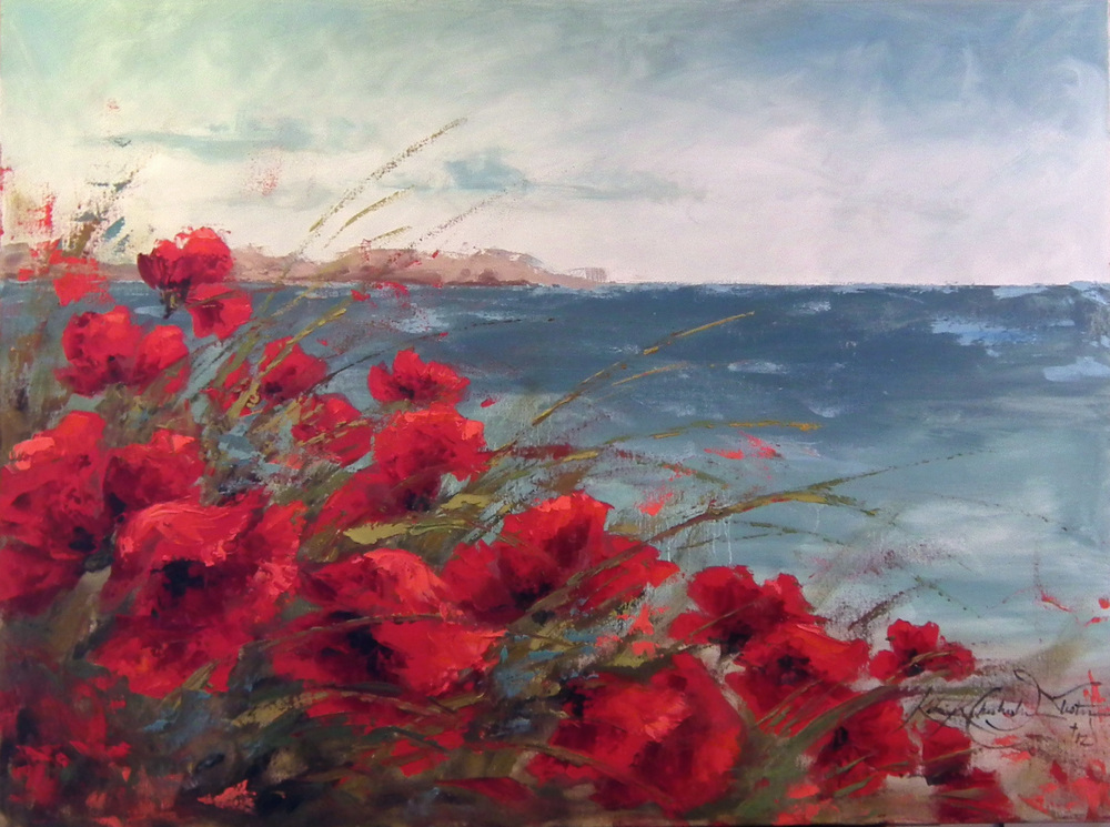 Poppies Over the Bay