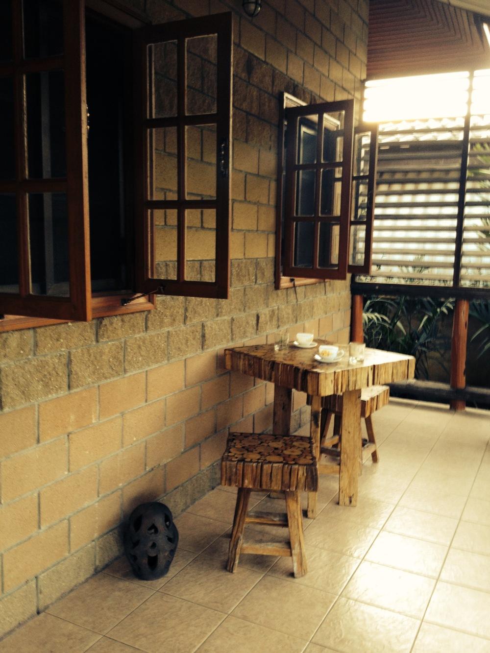 Coffee/Tea break on the terrace