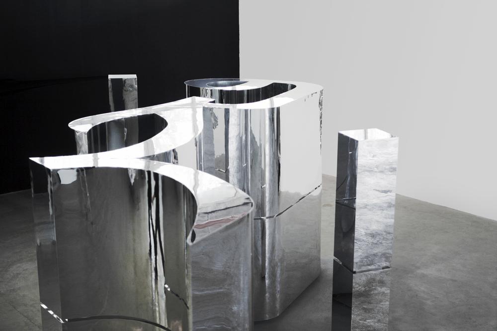 Fadjr (Dawn)  , 2007, polished stainless steel, 500 x 160 x 204 cm