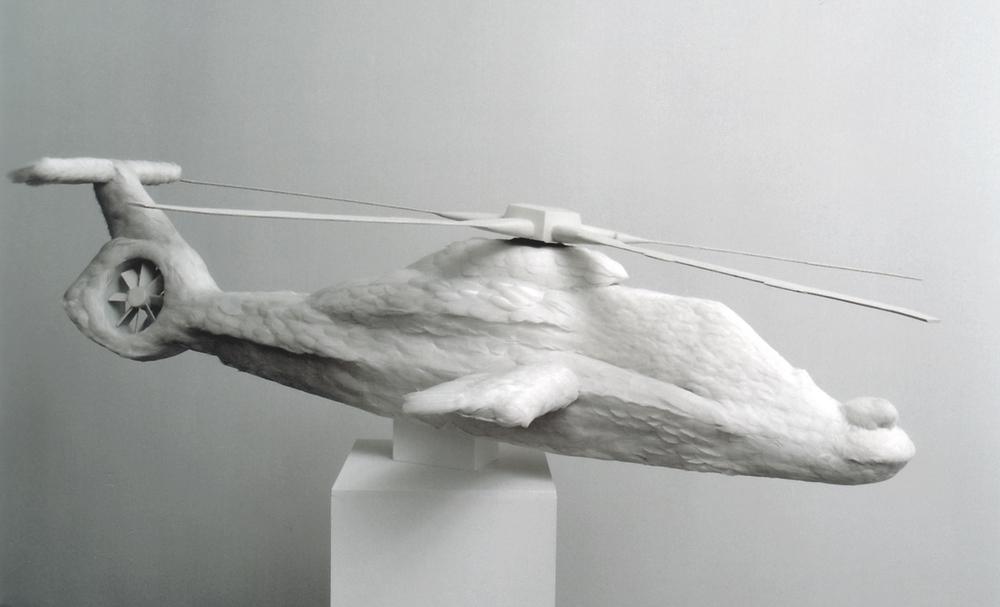 Comanche  , 2006, feathers, resin, styrofoam, 175 x 190 x 40 cm