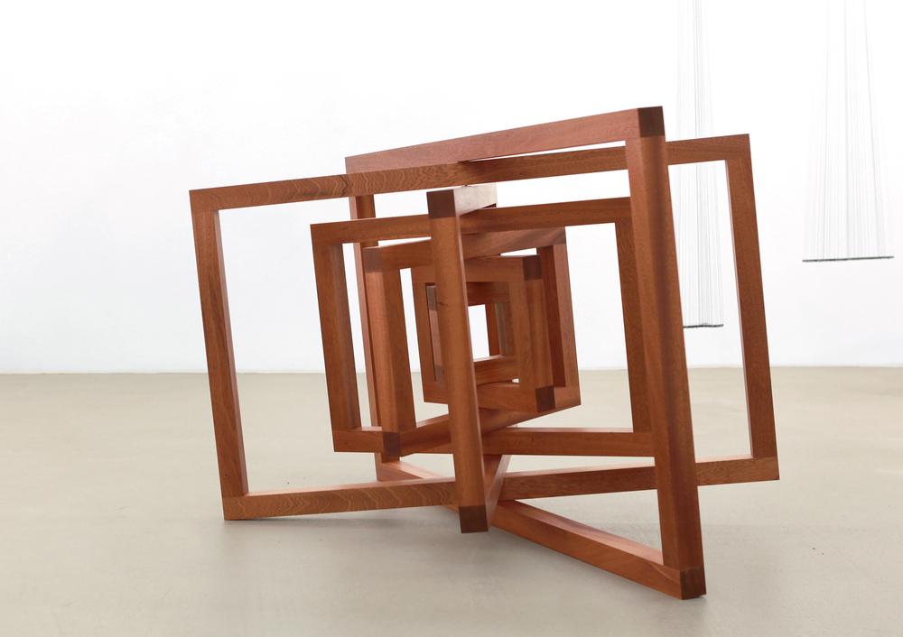 Dual Space  , 2012, wood, 150 x 123 x 90 cm