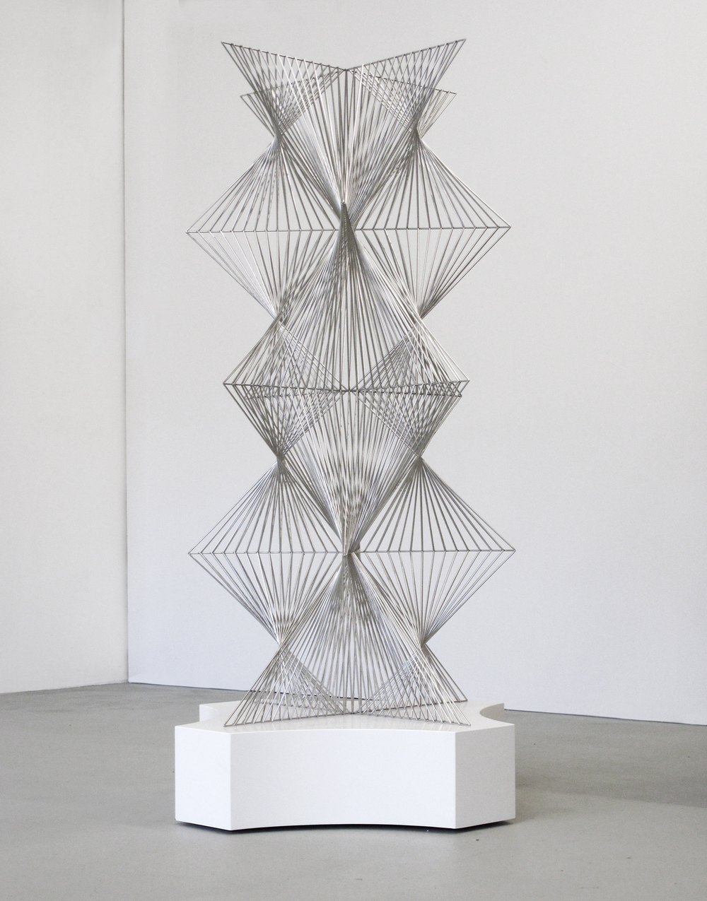 Allotropy, 2010,     stainless steel, 182 x 90 x 90 cm
