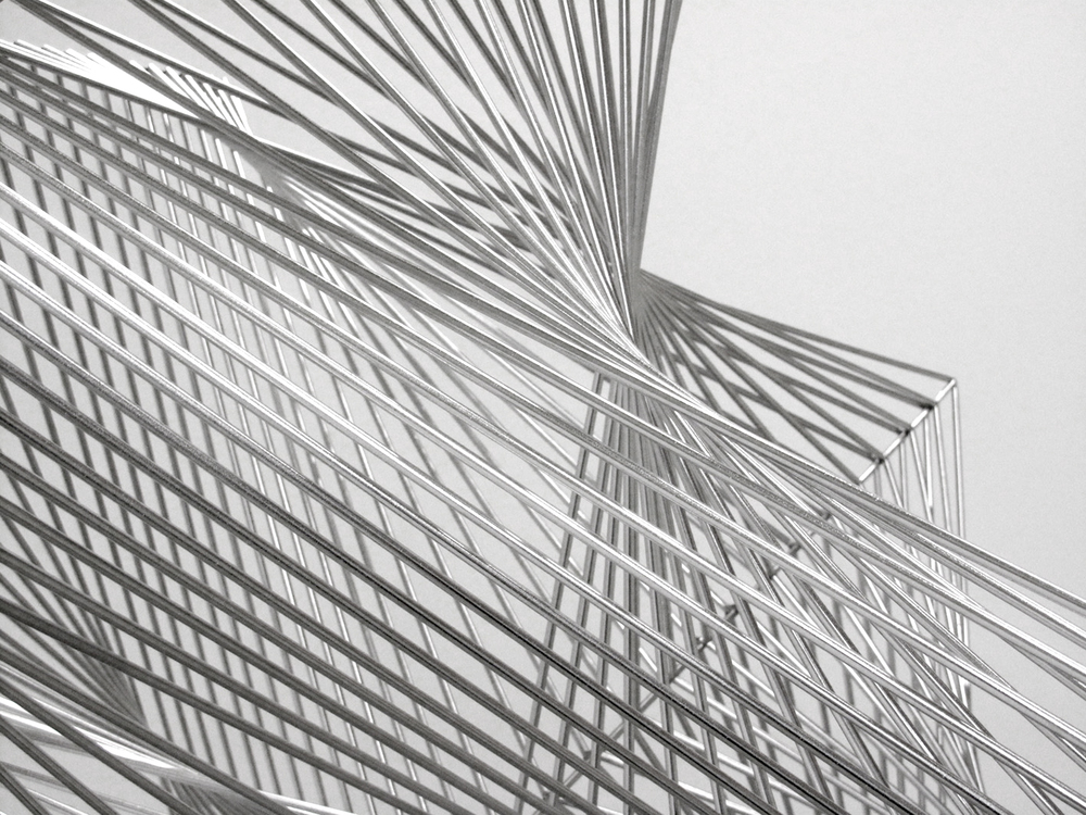 Allotropy  , 2010, stainless steel, 182 x 90 x 90 cm