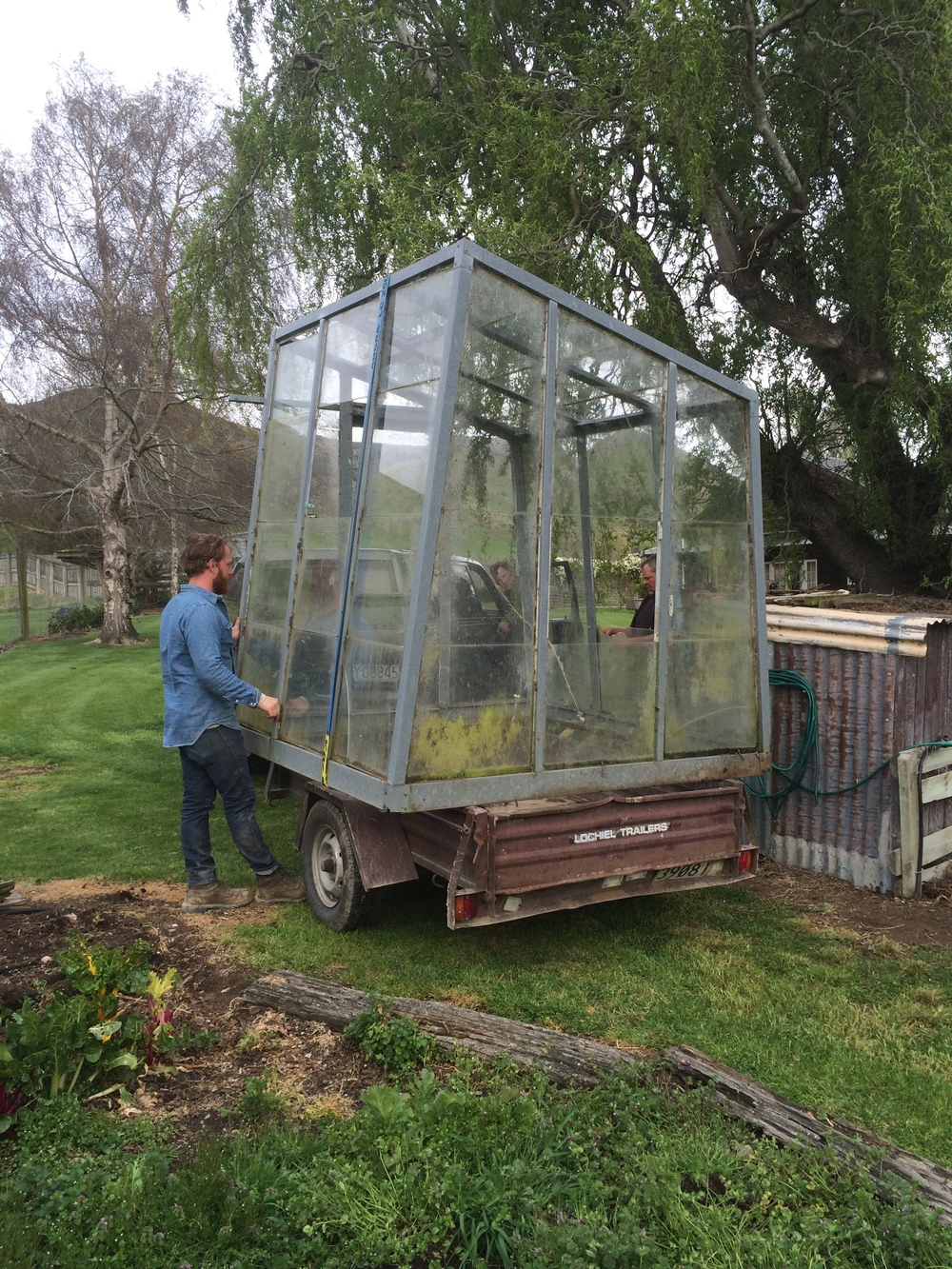 Karls trailer got a lot of use...picking up an old greenhouse from the neighbor