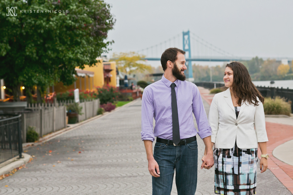Engagement Session in downtown Toledo