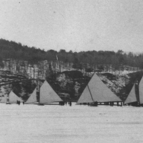 The River Ice yachting on the Hudson River, time travel and high-stakes races.