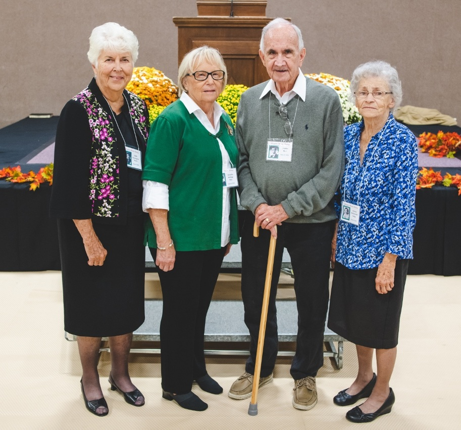 Class of 1953  Edith Pennington Beans, Dorthy Kellogg Rice, Charles Rice, Donna McDonald Selby
