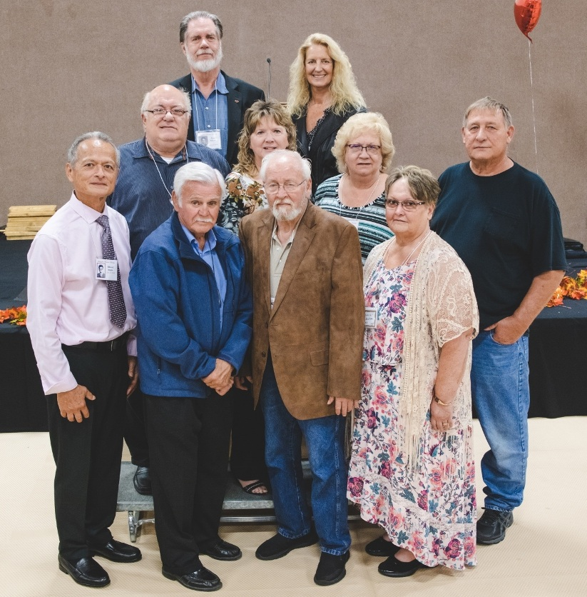 Class of 1968 Back Row: Gary Wilson, Terry-Lynn Ellis Erickson Middle Row: Richard Patterson, Kathy Spivey Gravell, Sandra Greer Kluter, Ron Dye Front Row: Edward Beijen, David Priest, Dan Avery, Patricia Jackson