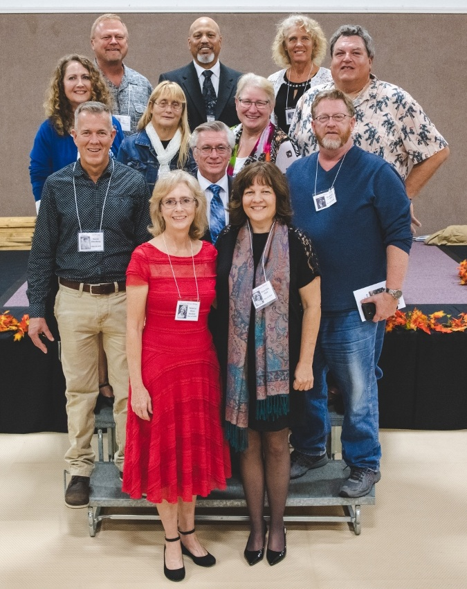 Class of 1978 Row 4: Scott Johansson, Kenneth Miller, Janice Taft Grote Row 3: Victoria Ann Dawes Harvey, Carma Wisdom Greenwood,  Vera Littrell Hart, John Brown Row 2: Steven Eldenburg, Franklin Stine, Stephen Stokes Row 1: Rebecca Olson Gardner, Dana Gibb Clark