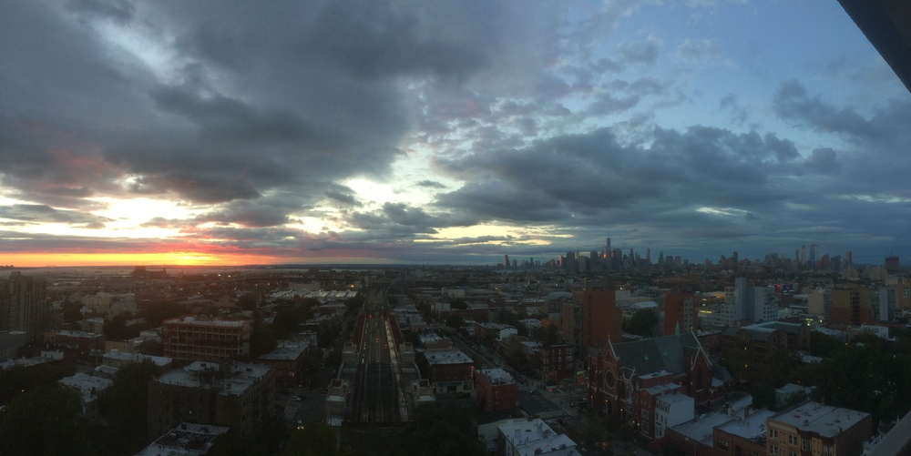 A sunset view