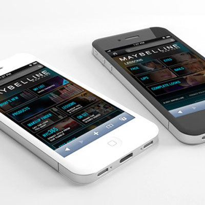 2012: UX/UI and eCommerce strategy for the initial launch of the Maybelline mobile app.