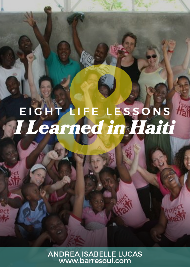 I chose to go to Haiti because I needed to be inspired. Something was missing. I felt I had lost touch with a fundamental part of me, my passion for women's issues, and I longed to be a part of something that was making a difference for women, especially trauma survivors.