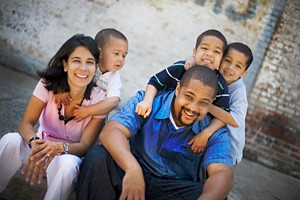 Pastor Bryan Loritts with his family