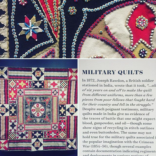 Military quilts from India and Crimean war.. bonkers world. #textilleart #quilting #sowingskills #quiltbeauty #militaryhistory