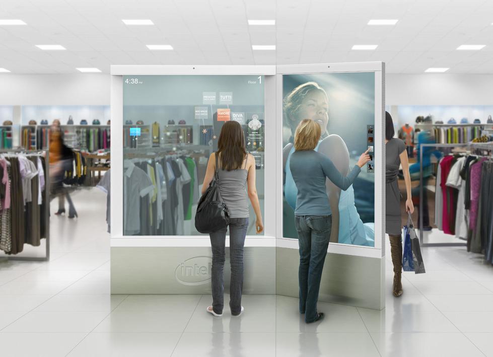 Frog Design + Intel digital retail visualization