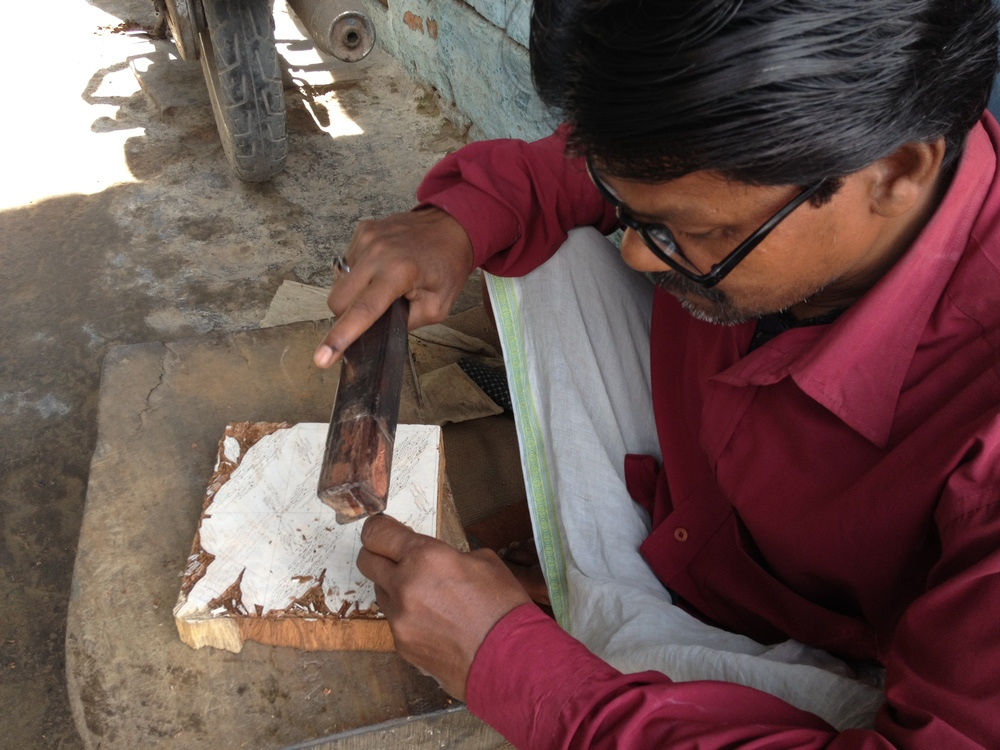 Jogdish working in shop, Khojwa, Varanasi, 2013
