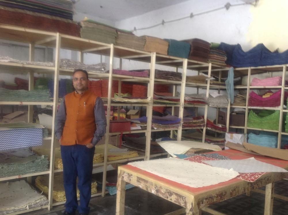 Sanganer, Jaipur, Rajasthan, Handmade paper factory, 2013
