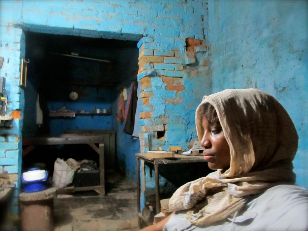 Me in Subbash's shop, Khojwa, Varanasi, April 2013