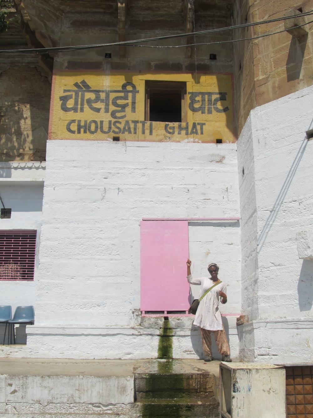 Me, Chotsani at Chousatti Ghat in Varanasi........