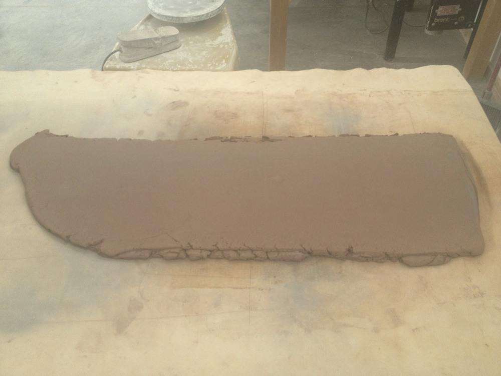 ...boom, a nice slab to make tiles....