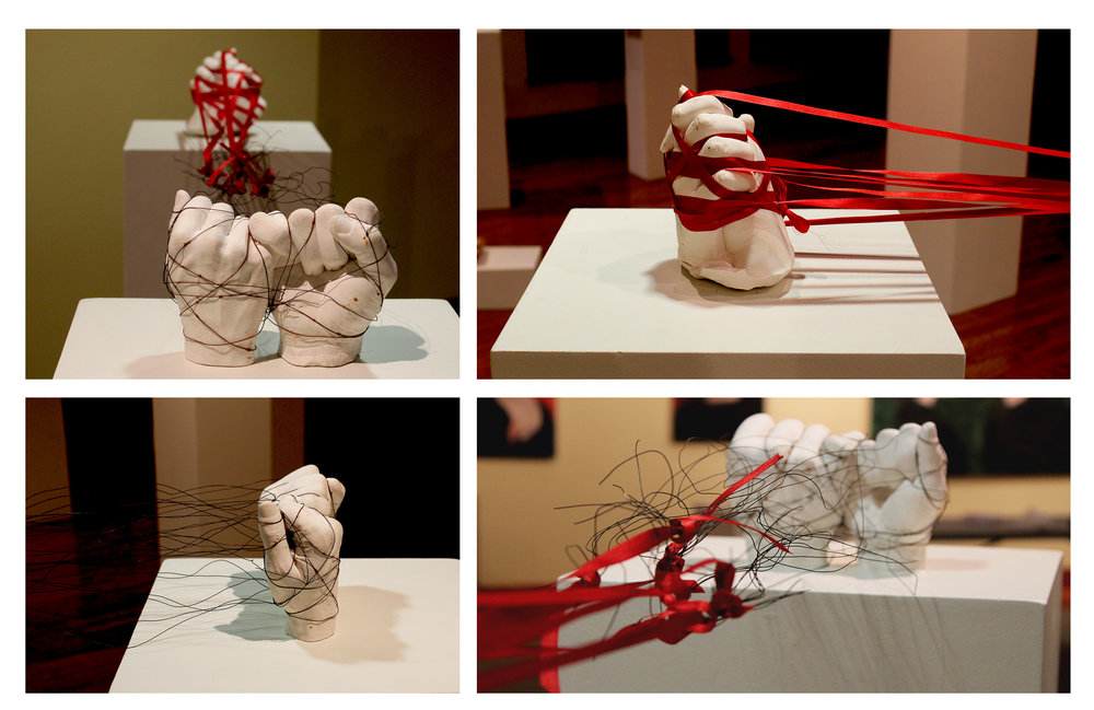Sculpture 1 Student Work - Mixed Media, Alginate, Plaster