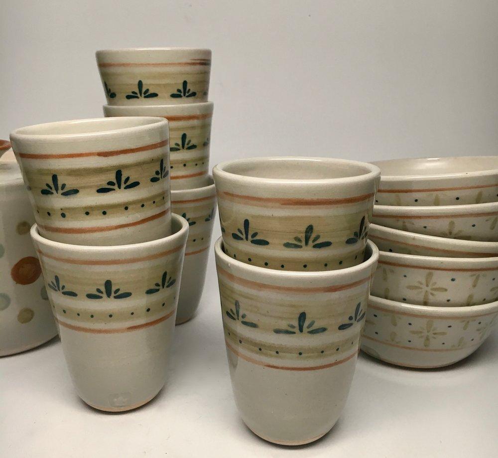 Ceramics 3 Intermediate Student Work - White Stoneware Cone 6 Oxidation